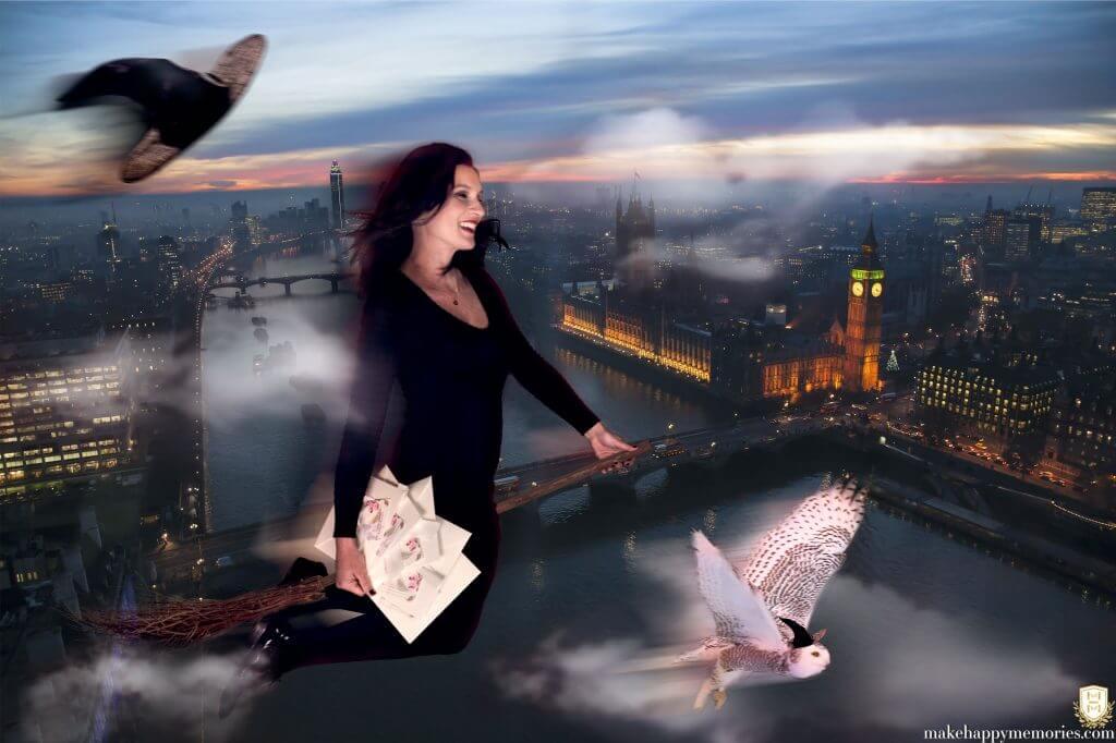 magic wedding planner - flying over london