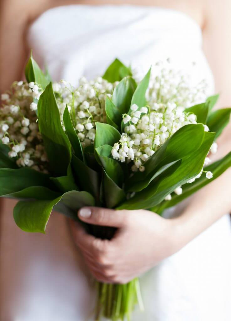 lilies of the valley bridal bouquet