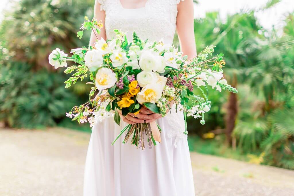 pretty bridal yellow bouquet