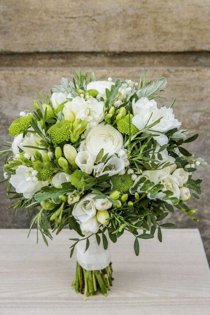 white elegant bridal bouquet