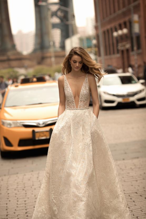 Berta wedding dress brocade 2018