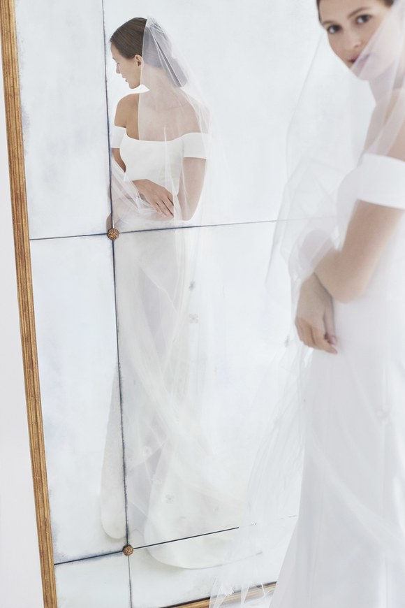 carolina herrera wedding dresses fall 2018 crepe