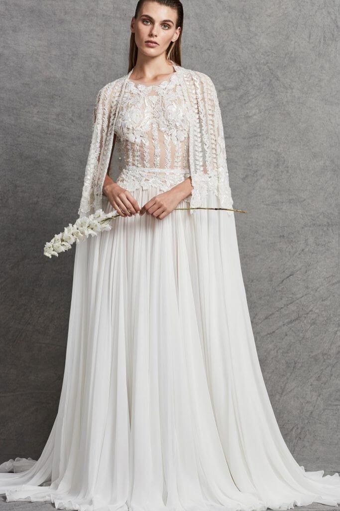 498e6628 georgette wedding dress Wedding dress by Zuhair Murad bridal collection ...