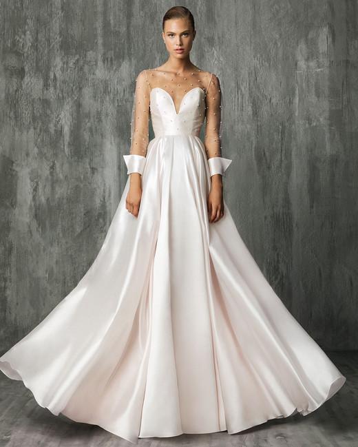 victoriakyriakides wedding dress fall2018 illusion