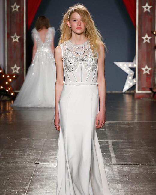 jenny packham wedding dress spring2018 satin