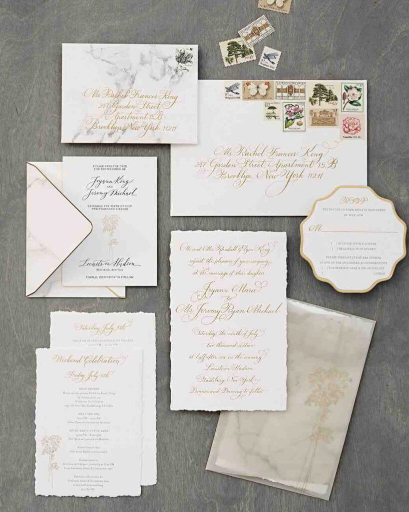 ANNE ROBIN WEDDING INVIATTION TREND MARBLE