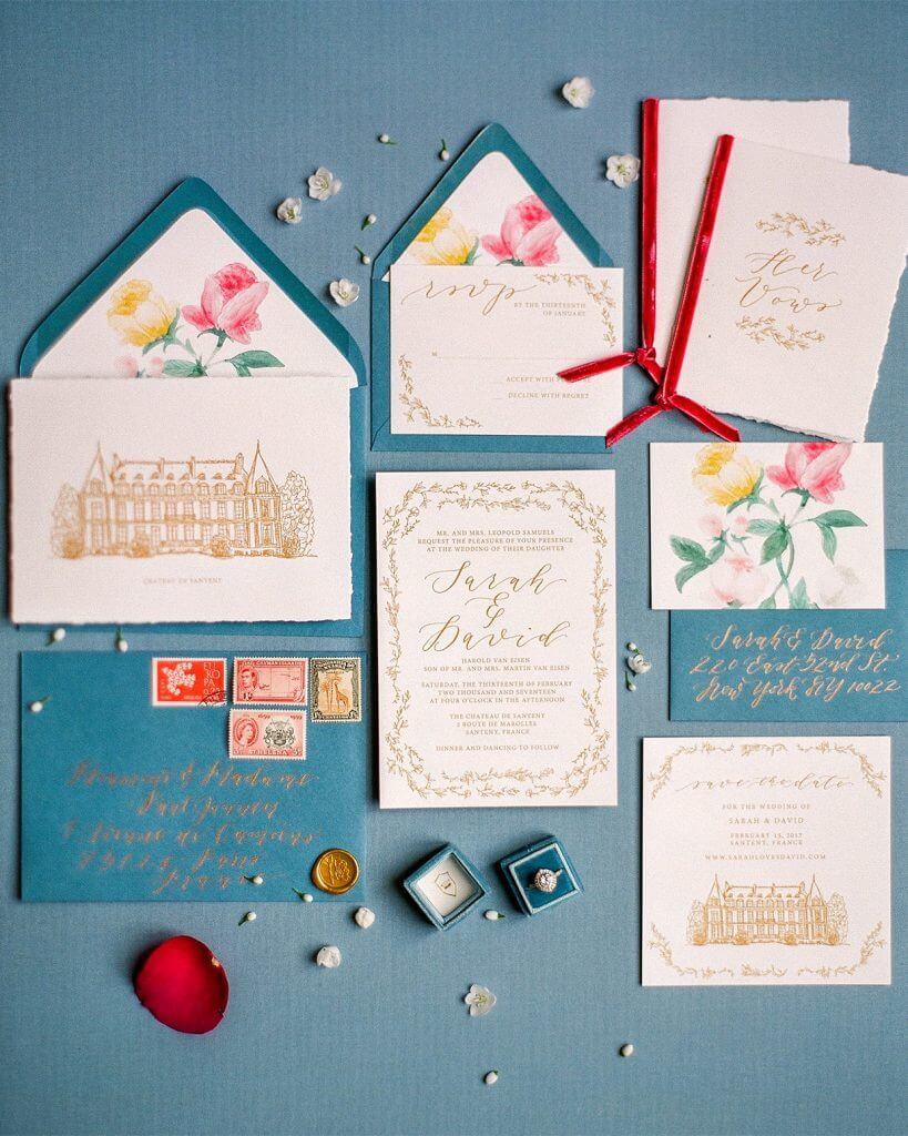 EMILY ROSE INK ENVELOPE LINERS WEDDING INVITATION TRENDS