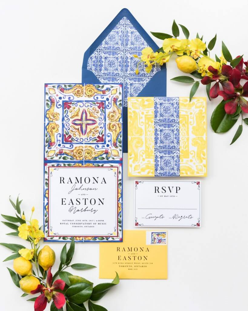 TILED PAPER & POSTE WEDDING INVITATION TREND