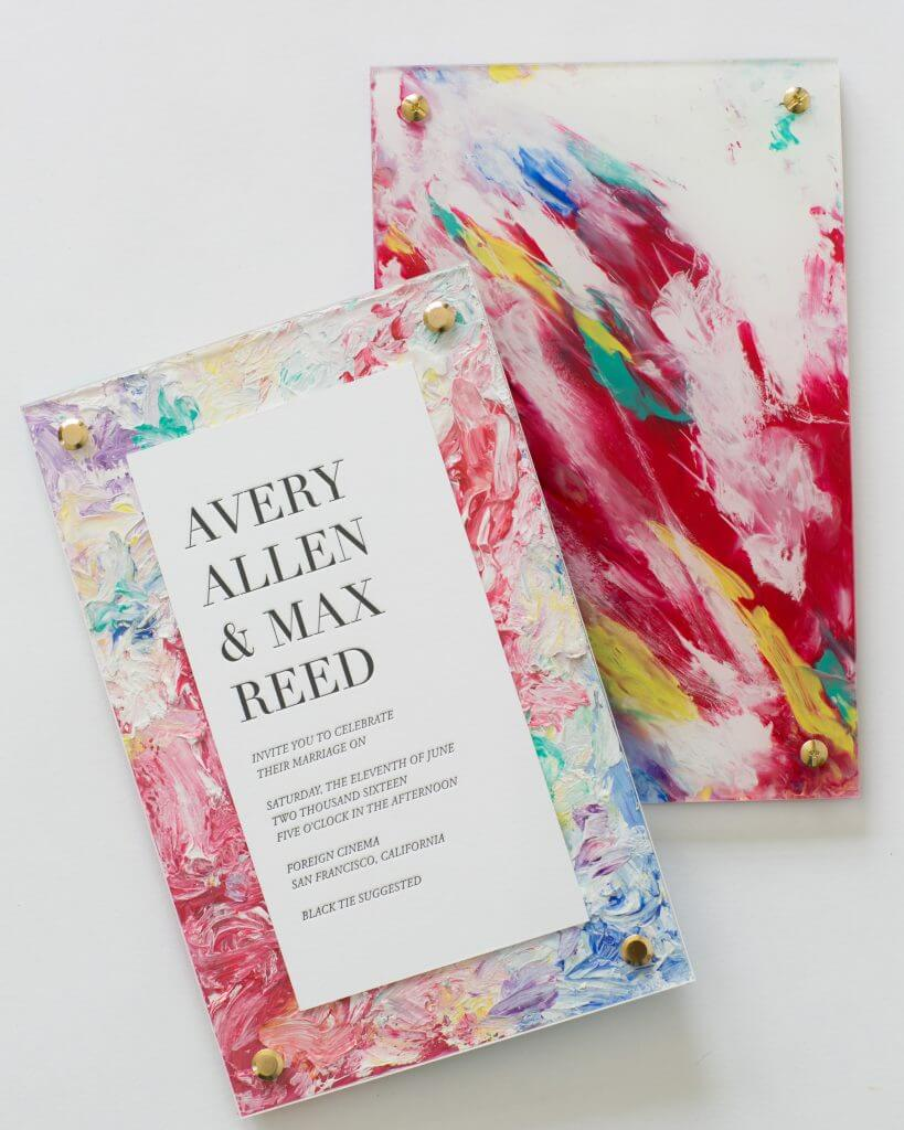 watercolour invitation trend yonder