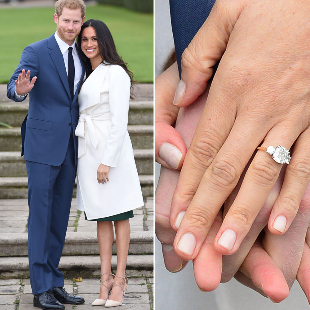 prince harry and meghan wedding engagement ring