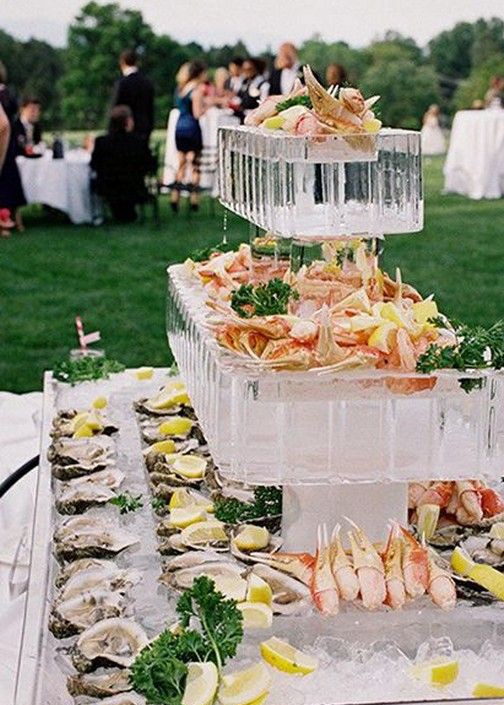 Oyster bar on ice