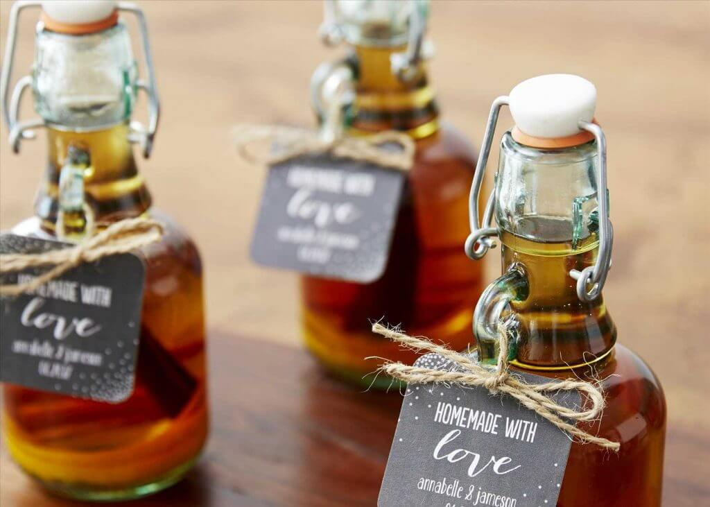 DIY liquor bar wedding idea