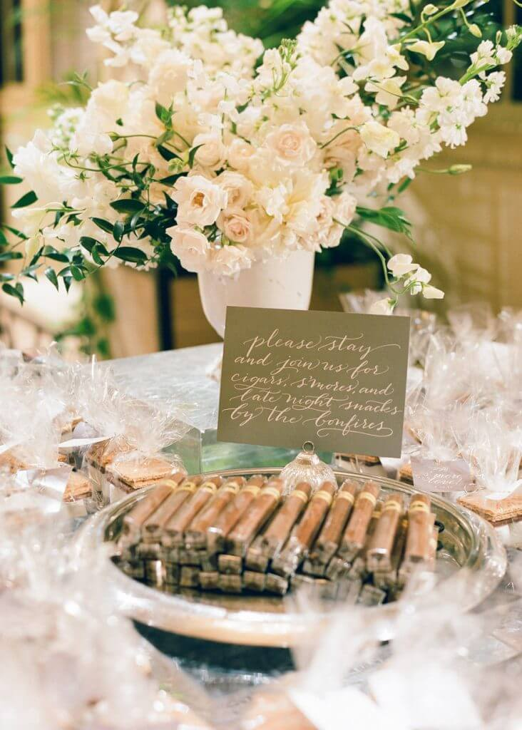 cigar bar wedding idea