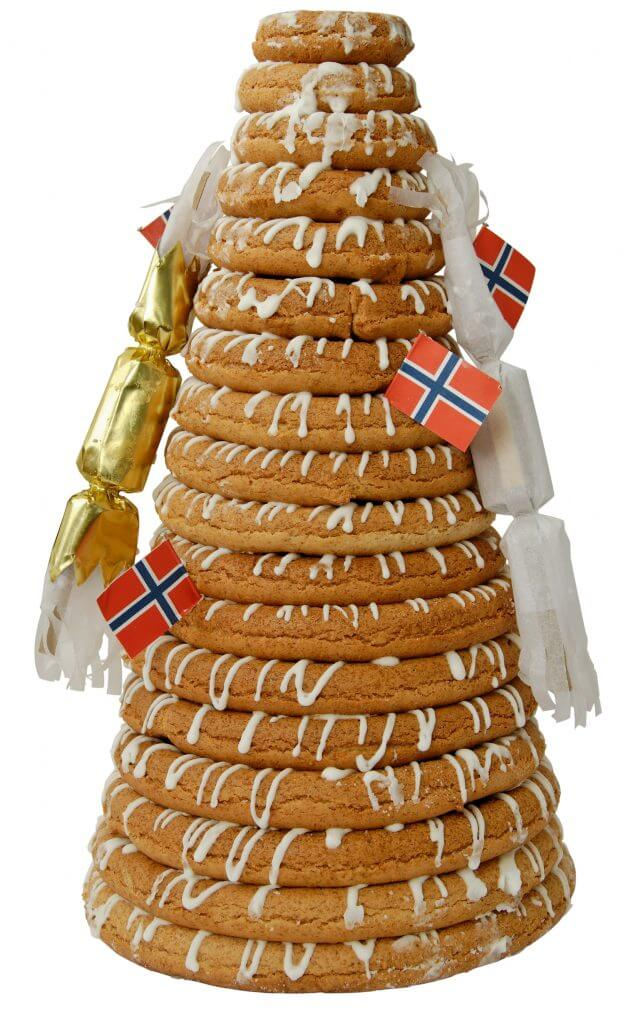 Norwegian wedding tradition kransekake