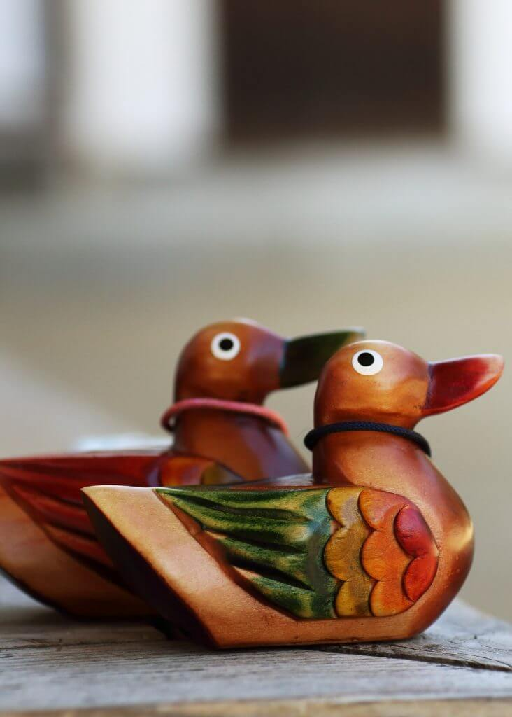 Korea wedding tradition wooden ducks