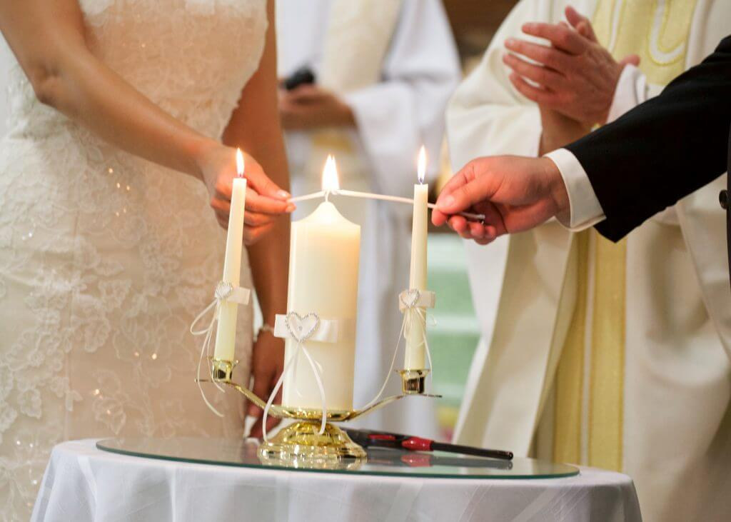 USA candle ceremony wedding tradition