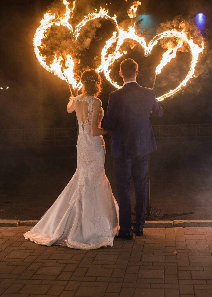 South-Africa set a fire wedding tradition