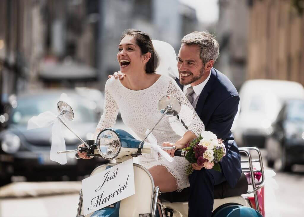 vespa wedding transportation idea