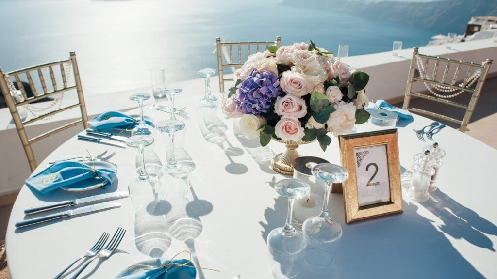 Wedding in Santorini Romantic reception31