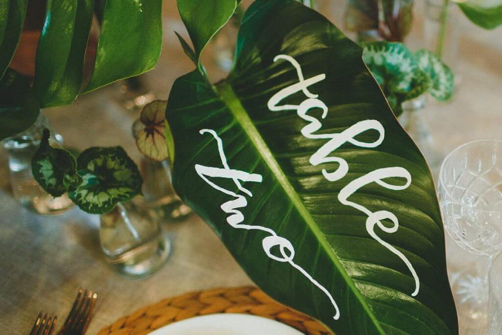 Make Happy Memories Greenery Table Number1