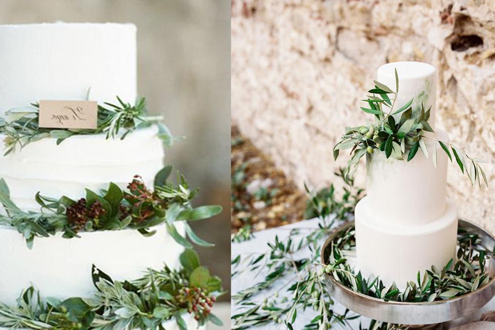 Make Happy Memories Greenery Cake1