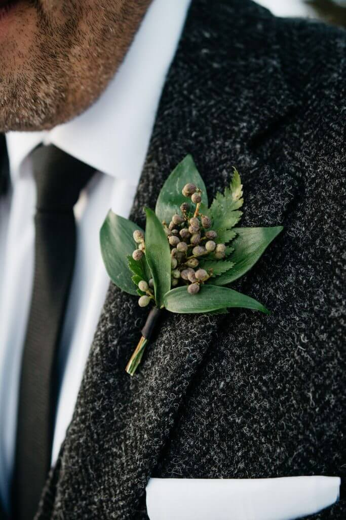 Make Happy Memories Greenery Boutonniere1