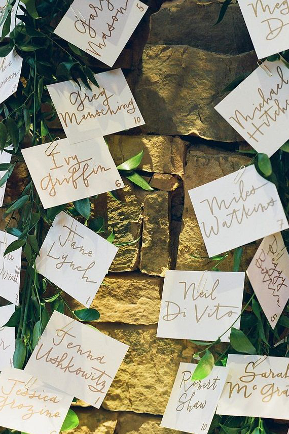 Make Happy Memories Greenery Escort Card1
