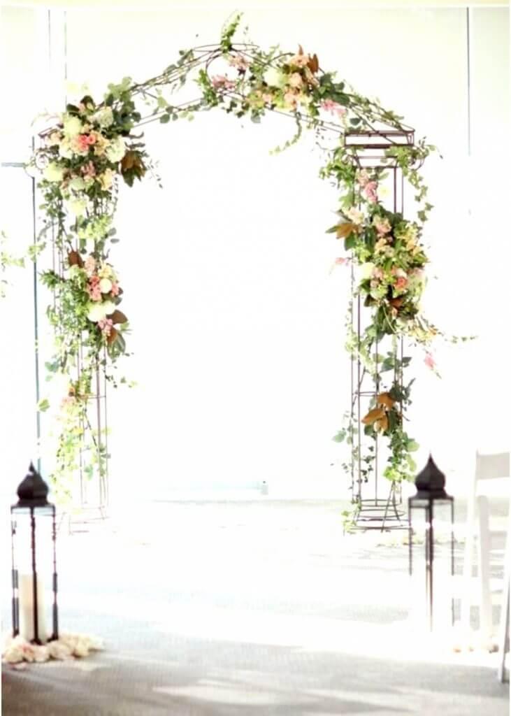 metal wedding arch make happy memories