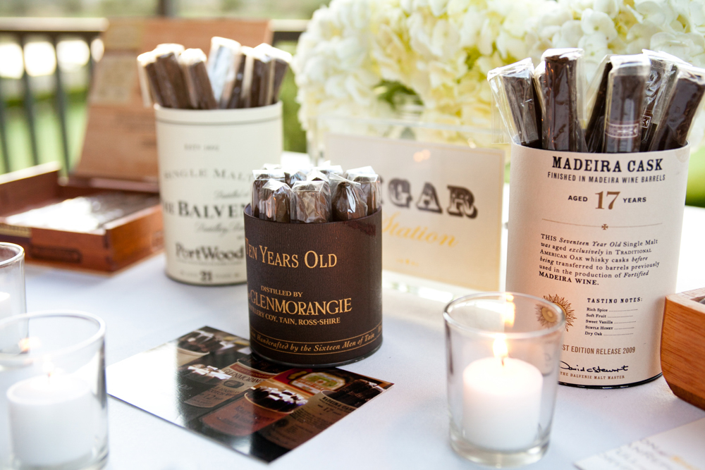 Make Happy Memories Wedding Corners Cigar Bar