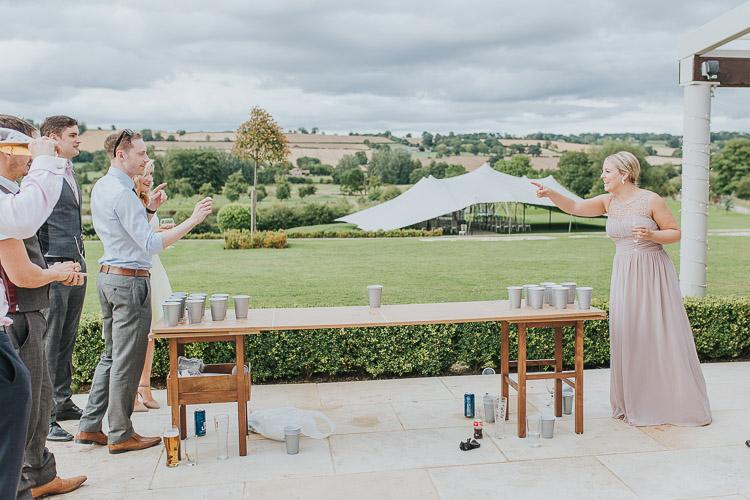 Make Happy Memories Wedding Corners Beer Pong