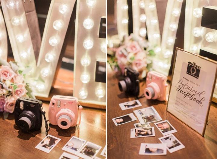 Make Happy Memories Wedding Corners Polaroid